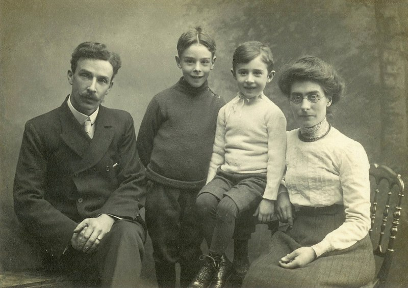 James and Mary Rugman with sons, William and Arthur