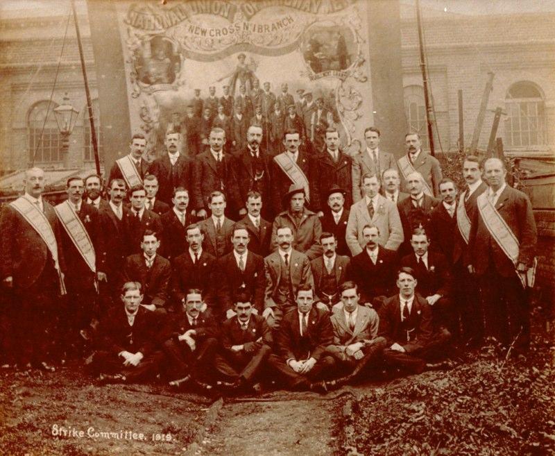 NUR strike committee, 1919. James Rugman far left back row.