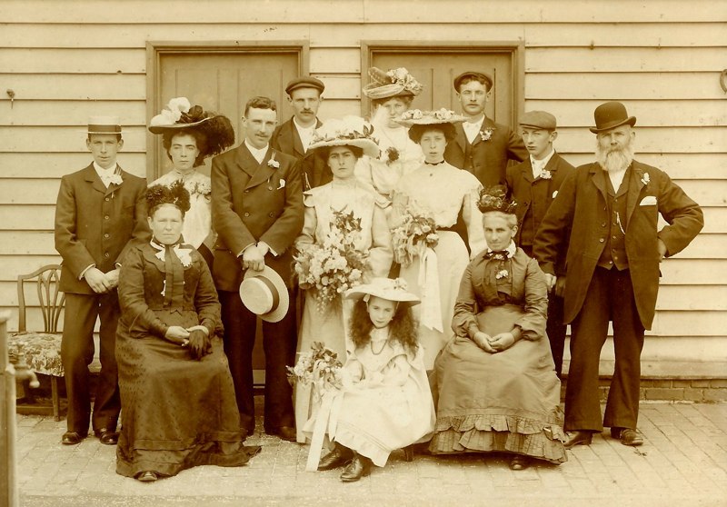 Wedding of James Rugman and Mary J Cobbett, 23rd July 1904